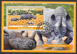 Burkina Faso 2019 Bloc Faune Animaux Rhinocéros OBLITERE - Burkina Faso (1984-...)