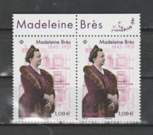 FRANCE / 2021 / Y&T N° 5463 ** : Madeleine Brès X 2 Tous Haut De F - Unused Stamps
