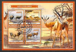 Burkina Faso  2019 Faune Animaux Les Antilopes OBLITERE - Burkina Faso (1984-...)