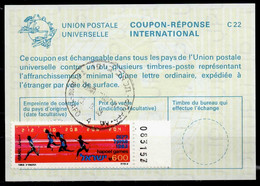 ISRAEL InternationalReply Coupon La23 + Post Stamps 6.00 Schekel Reponse Antwortschein IRC IAS o TEL AVIV 15.09.83 - Briefe U. Dokumente