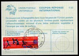 ISRAEL InternationalReply Coupon La23 + Post Stamps 6.00 Schekel Reponse Antwortschein IRC IAS o TEL AVIV 02.10.83 - Briefe U. Dokumente