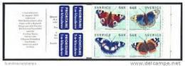 ZWEDEN 1999 Postzegelboekje Vlinders PF-MNH-NEUF - 1981-..