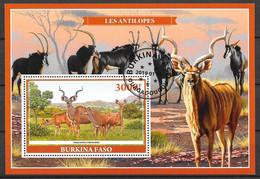 Burkina Faso 2019 Bloc Faune Animaux Les Antilopes OBLITERE - Burkina Faso (1984-...)