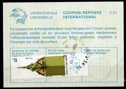 ISRAEL InternationalReply Coupon La23 + Post Stamps 8.00 Schekel Reponse Antwortschein IRC IAS o TEL AVIV 19.0x.84 - Briefe U. Dokumente