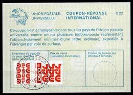 ISRAEL InternationalReply Coupon La23 + Post Stamps 0.50 Schekel Reponse Antwortschein IRC IAS o TEL AVIV 22.07.84 - Briefe U. Dokumente