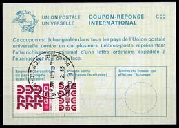 ISRAEL InternationalReply Coupon La23 + Post Stamps 4.00 Schekel Reponse Antwortschein IRC IAS o TEL AVIV 05.02.85 - Briefe U. Dokumente