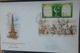 FDC PAKISTAN The 50th Anniversary Of Passing Of Pakistan Resolution - 1990 - Pakistan