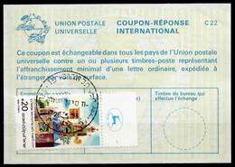 ISRAEL InternationalReply Coupon La23 + Post Stamps 20.00 Schekel Reponse Antwortschein IRC IAS o TEL AVIV 28.05.85 - Briefe U. Dokumente