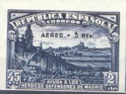 FALSO ESPAÑA EDIFIL NRO 759 A - DEFENSA DE MADRID MNH NON DENTELE  FALSCH FACSIMILE FALKST NON DENTELE  COTATION EDIFIL: - 1931-50 Unused Stamps