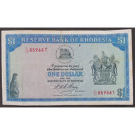 Rhodésie, 1 Dollar 2.09.1974, VF - Rhodesia
