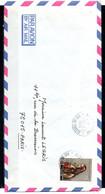 POLYNESIE. N°231 De 1985 Sur Enveloppe Ayant Circulé. Visage Polynésien. - Briefe U. Dokumente