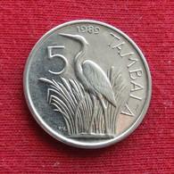 Malawi 5 Tambala 1989 KM# 9.2a Nickel Clad Steel Bird - Malawi