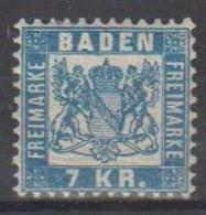 201/ Mi: 25; M/m; 1868; Cat €  10.00 - Bade