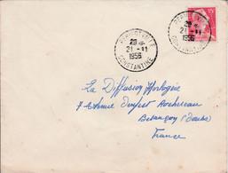 ALGERIE MULLER SUR LETTRE DE PERIGOTVILLE POUR LA FRANCE 1956 - Cartas