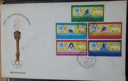 FDC PAKISTAN Olympic Games - Los Angeles, USA   -1984 - Pakistan