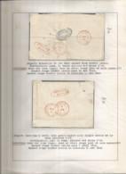 2 Plis 1849 Déboursé Mons De Bruxelles Et Warneton Vers Hornu - Non Classificati