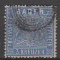 207/ Mi: 10; Used; 1860; Cat €  30.00 - Bade