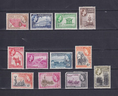 GOLD COAST 1952/54, SG# 153-164, CV £70, Animals, Trees, Architecture, Nature, MH - Goldküste (...-1957)