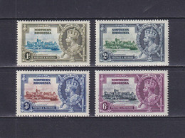 NORTHERN RHODESIA 1935, SG# 18-21, George V, Silver Jubilee, MNH - Nordrhodesien (...-1963)