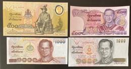 4 X Thailand Banknotes - Thailand