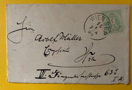 13374 - Lettre De Wien ST.P. 15.01.1890 Pour Mariahilf-Wien 3 K Vert - Cartas