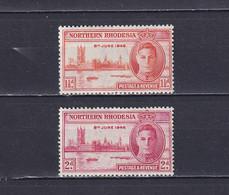 NORTHERN RHODESIA 1946, SG# 46a - 47, George VI, Architecture, MH - Nordrhodesien (...-1963)