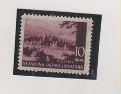 CROATIA WW II Landscape  10 Kn ,printed On Gum Side MNH RRR - Croacia
