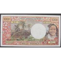 Tahiti, Papeete, 1000 Francs ND 1971, VF - Papeete (French Polynesia 1914-1985)