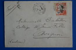 L12 COCHINCHINE BELLE LETTRE 1913 VINHLONG POUR MARSEILLE FRANCE +AFFRANCH INTERESSANT - Lettres & Documents