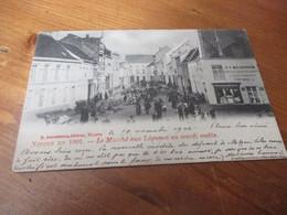Ninove En 1901, Le Marche Aux Legumes Un Mardi Matin - Ninove