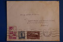 L12 MAROC BELLE LETTRE 1947CASABLANCA POUR ST FELIX FRANCE +AFFRANCH PLAISANT - Briefe U. Dokumente