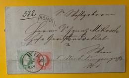 13375 - Lettre Recommandée De Wien 6.06.1882 3k Vert & 5 K Rouge - Cartas