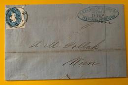 13377 - Lettre De Prag 22.02.1862 Pour Wien  15 K Bleu - Cartas