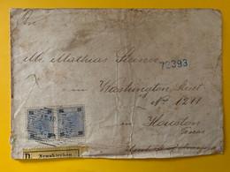 1337 - Lettre Recommandée De Neukirchen Pour Houston 1904 - Cartas