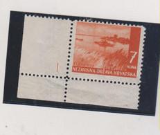 CROATIA WW II Landscape 7 Kn ,plate Nr I MNH - Croacia