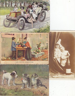 LOT TRES VARIE DE + DE 260 CARTES FANTAISIES. AVEC Q.Q. ETRANGERES .BON A T.B.ETAT.VOIR SCANS ET DES.PETIT PRIX.A SAISIR - 100 - 499 Postcards