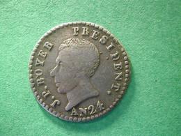 Haiti  25 Cent  L'an 24  Rare  Silver - Haiti