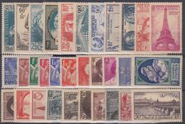 FRANCE : ANNEE COMPLETE 1939 N° 419/450 NEUVE ** GOMME SANS CHARNIERE - COTE 343 € - ....-1939