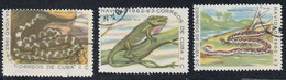 CUBA - Faune, Reptiles Et Amphibiens - Mi 820-824 - 1962 - Used Stamps