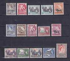 KENYA UGANDA TANGANYIKA 1954/59, SG# 167-180, CV £140, Animals, MNH - Kenya, Uganda & Tanganyika
