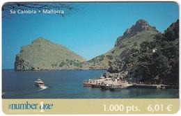 SPAIN B-601 Prepaid NumberOne - Landscape, Coast - Used - Otros