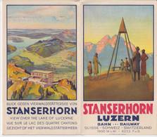 OLD BROCHURE - FOLD OUT - TOURISM - STANSERHORN - LUZERN   SWITZERLAND - - Zonder Classificatie