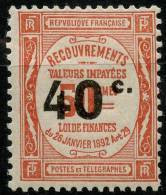 France Taxe (1917) N 50 * (charniere) - 1859-1955 Neufs