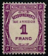 France Taxe (1927) N 59 * (charniere) - 1859-1955 Neufs