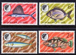 ASCENSION - 1969 FISHES 2ND SERIES SET (4V) FINE MNH ** SG 117-120 - Ascension