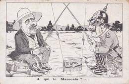 Thèmes > Illustrateurs CPA Illustrée Humoristique - A Qui Le Marocain - Illustrateur G. De Lion - Crise De Tanger - Lion