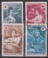 Peinture - Les Quatre Saisons - Mignard - FRANCE - Croix Rouge - N° 1580-1581-1619-1620 - 1968-1969 - Oblitérés