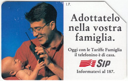 ITALY E-845 Magnetic SIP - Communication, Mobile Phone Exp. 31.12.95 - Used - Public Practical Advertising