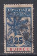 Guinée Française N° 39 O , Type Palmiers :  25 C. Bleu Sur Chamois,  Oblitéré  Sinon TB - Nuevos
