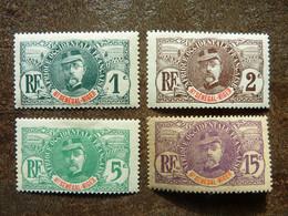 1906  Général Faidherbe   Y&T= 1_2_ 4 Et 6  MNH ** (1c Et 5c ) Et  MLH (légères Traces De Charnière Sur 2c Et 15c) - Neufs